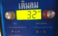 タイタイヤ空気圧