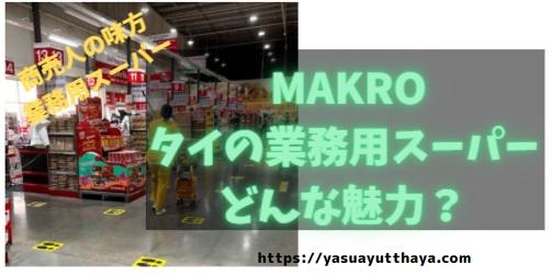 MAKROタイ業務用スーパー