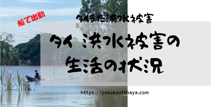 タイ洪水2021アユタヤ